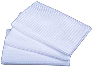 Sinland Best Microfiber Dish Towels Waffle Weave Kitchen Towels Quick Dry Fabric 3 Pack 16 Inch x 32 Inch 16 Inch X 24 Inch