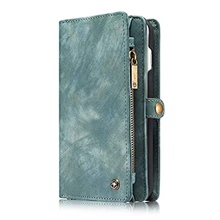 iPhone Xs Case Wallet, Miya iPhone X Detachable Slim Cover Premium Pu Leather Folio Magnetic Wallet Protection Card Slot Removable Back Shell Carrying Cover for iPhone X (2017)/iPhone Xs(2018) -Black MIYA LTD
