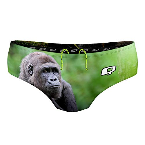 Q Swimwear Gorilla Mens Swim Briefs, Polyester Mens Swimwear Brief, Mens Competitive Swim Suit, Brief in Multiple Colors, Polyester Racing Suits for Men (32)