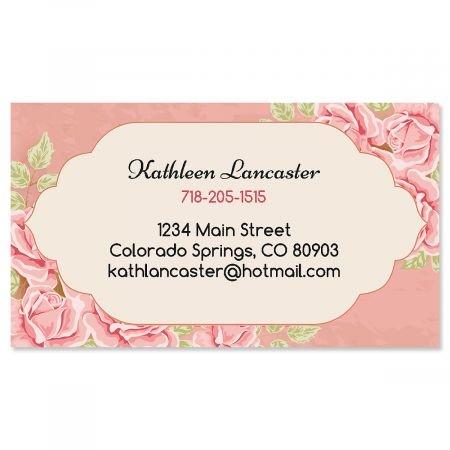 Set Calling Card (Romantic Rose Business Cards - Set of 250 2
