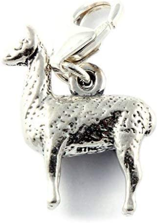 Soldered On Clasp Sterling Silver Llama Clip On Charm