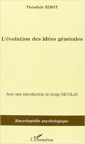 Livres gratuits L'évolution des idées générales : (1897) pdf