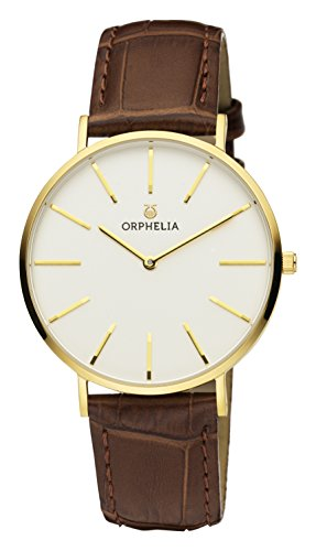 ORPHELIA Classico Men's Black Leather watch-OR61701