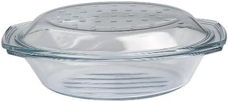 Drop y parrilla asador - molde para horno/fuente con tapa de vidrio ...