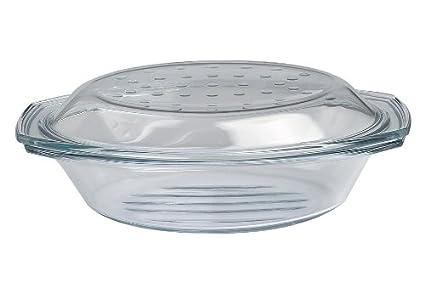 Drop y parrilla asador - molde para horno/fuente con tapa de vidrio - oval