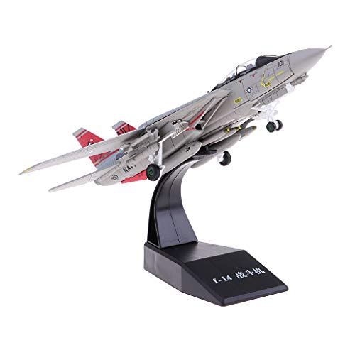 Homyl 1:100 Scale Alloy US F14 Airplane Aircraft Fighter Toy Model Diecast Plane Model Toy Home Decoration Gift