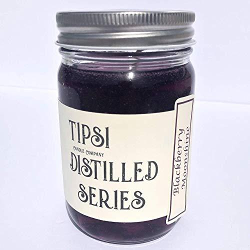 - Moonshine Candle in Mason Jar - BLACKBERRY MOONSHINE Scent - Gel Wax