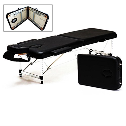 Portable 2 Fold Aluminum Massage Table Salon SPA Bed Facial Tattoo w/ Carry Case