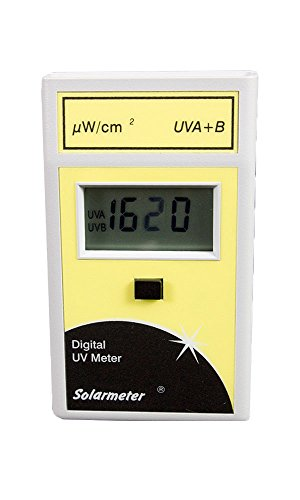 Solarmeter Model 5.7 Sensitive Total UV Meter - Measures 280-400nm with range from 0-1999 µW/cm² Total UV by Solar Light Company, Inc