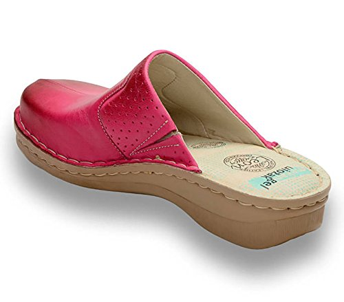 Dames Rose Chaussures Chaussons 360 Sabots Mules Leon En Cuir Femme qz8IwxFP