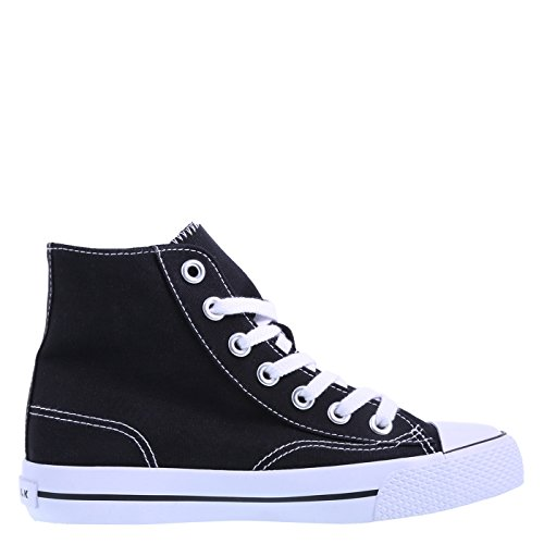 Airwalk Womens Legacee High-top Nero Tela Bianca