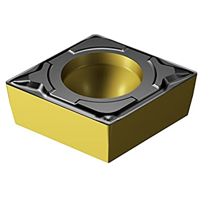 Sandvik Coromant CCMT 3(2.5)1-PF 4325 Indexable Carbide Turning Inserts, 80 Degree Rhombic, Neutral, Steel