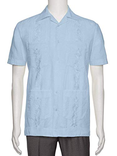 Gentlemens Collection Mens Guayabera Shirt - Embroidered, used for sale  Delivered anywhere in USA