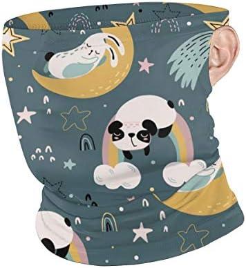 フェイスカバー Uvカット ネックガード 冷感 夏用 日焼け防止 飛沫防止 耳かけタイプ レディース メンズ Animals Sleeping On The Moon