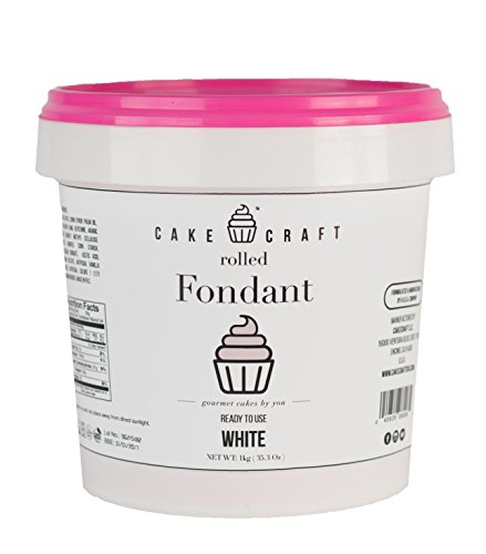 Cake Craft Rolled Fondant - White / Vanilla, 2.2lbs (Rolled Fondant)