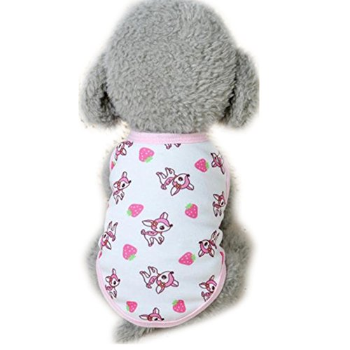 Boomboom Cotton Dog Clothes Milk Small Puppy Pet Clothes (Pink)