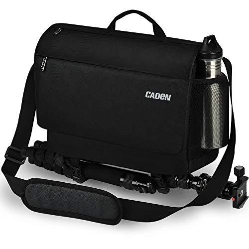 CADEN DSLR Camera Shoulder Messenger Bag with Tripod Holder and Detachable Camera Insert Bag, Camera Case Bag for Nikon…