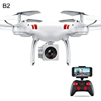 Gentman KY101 2.4GHz RC 6-axis Gyroscope Quadcopter FPV Altitude Hold with Camera Drone Headless Mode (White:Altitude Hold WIFI)
