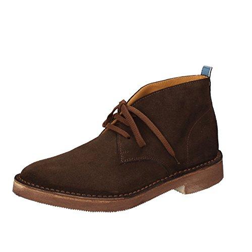 MOMA - Botas de ante para hombre marrón marrón