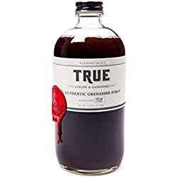True Syrups and Garnishes Old Fashioned Authentic Grenadine Syrup for Cocktails, 16 oz