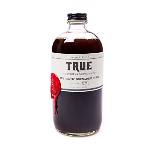 True Syrups and Garnishes Old Fashioned Authentic Grenadine Syrup for Cocktails, 16 (0.25 Ounce Beverage)