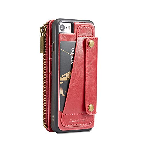 Sammid Xs Mas iPhone Case,6.5'' Girls Multi-Function Phone Case Detachable Premium PU Leather Protective Cover with Card Slots Holder for iPhone Xs Mas - Red by Sammid