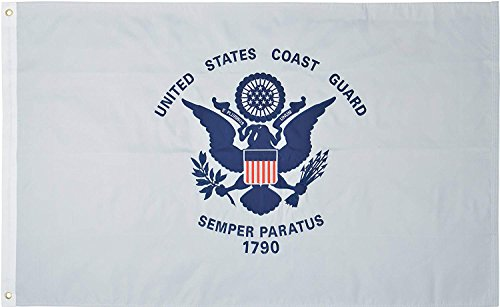 U.S. Coast Guard 3′ x 5′ Ft 210D Nylon Premium Outdoor Embroidered USCG Flag by Green Grove Review