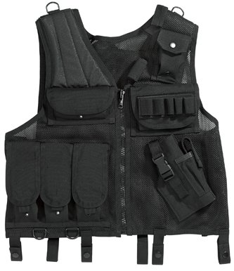 Quick Draw Tactical Vest, Black, One Size by Riot Threads