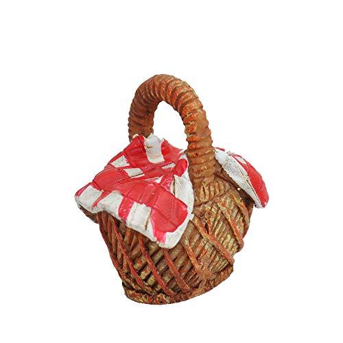 Picnic Basket for Miniature Garden, Fairy Garden -