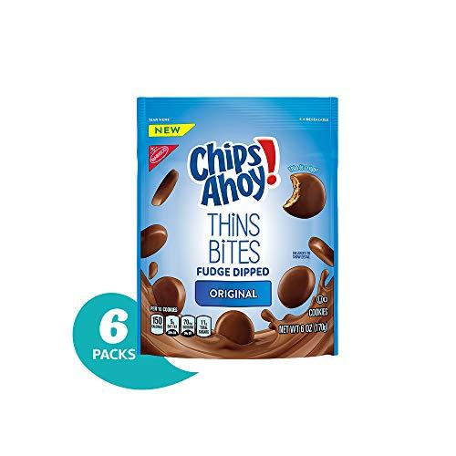 - Chips Ahoy! Thins Bites Fudge Dipped Original Cookies, 6 oz Bag