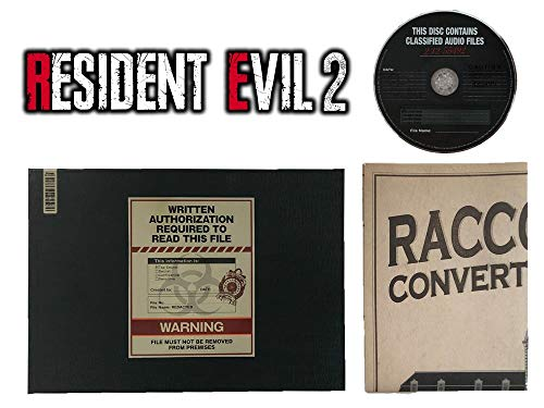 Biohazard RE:2 (Resident Evil 2) Collector's Edition Ben's File Art Book Hardcover & Original Soundtrack & Racoon Police Station Map Set