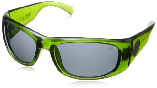 Black Flys Fly Cents Wrap Sunglasses,Crystal Green,65 - Sunglass Flys Black