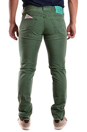 Jacob Cohen Homme MCBI160037O Vert Coton Pantalon