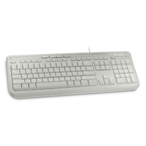 Microsoft Wired Keyboard 600 - Clavier filaire Blanc AZERTY