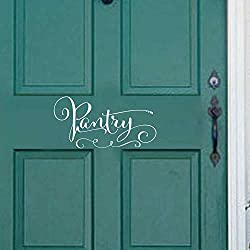 """BATTOO Pantry Decal Door wall decal Pantry Door Kitchen Wall Decal Kitchen Wall D¨¦cor Vinyl Lettering Kitchen Wall Art Sticker(White, 5""""h x10""""w)"""