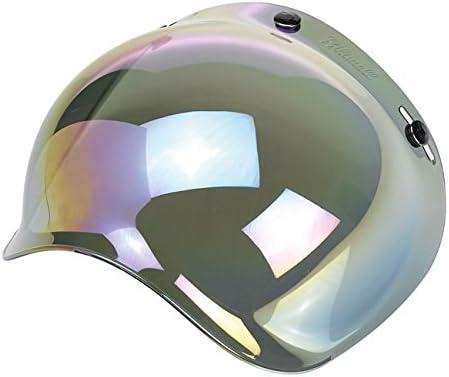 Yam DMD Bandit Vell Bell Visera burbuja con efecto de espejo y arco iris para cascos de moto Biltwell Biltwell AGV Nolan AFX