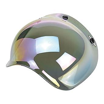 Biltwell - Visera burbuja con efecto de espejo y arco iris para cascos de moto Biltwell