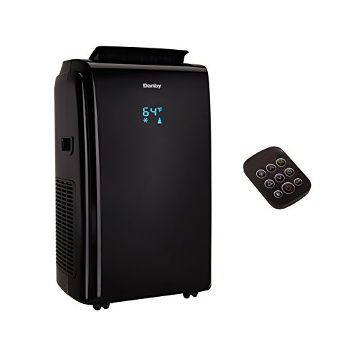 Danby 12000 BTU 3-in-1 Portable Air Conditioner and Dehumidifier + Remote, Black