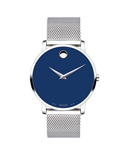 Movado Museum Classic, Stainless Steel Case, Blue Dial, Stainless Steel Bracelet, Men, 0607349 ()
