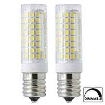 E17 LED All New (102-LEDs) 7 Watt ( 75W Halogen Bulbs Equivalent), Intermediate Base, Microwave oven, Dimmable Daylight White, 360 Degree Beam Angle for Indoor Decorative Lighting(2-pack)