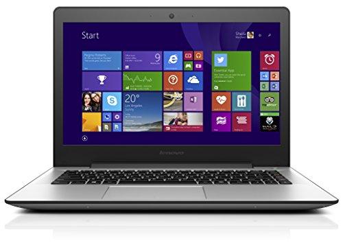 Lenovo U41-70 35,6 cm (14 Zoll Full HD Matt) Slim Ultrabook (Intel Core i5-5200U, 2,7GHz, 8  GB RAM, 256GB SSD, Intel HD Grafik, Windows 10) silber