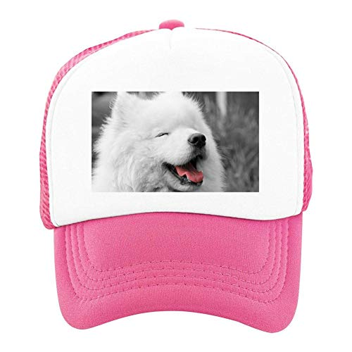 EThomasine Kids Girls Boys Mesh Cap Trucker Hats Samoyed Adjustable Hat Pink by EThomasine
