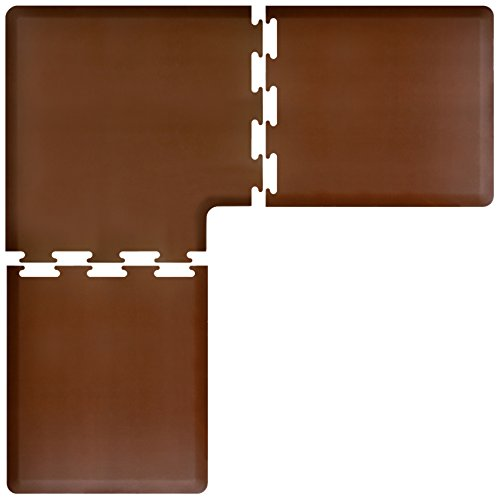 WellnessMats Anti Fatigue Feet Kitchen Brown