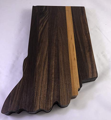 Charcuterie board Indiana cheese platter #99 with Walnut and Cherry Solid Hardwoods ()