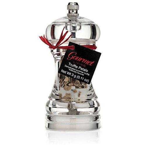 (Italian Truffle Grinder | Custom Acrylic Truffle Mill with dehydrated Scorzone Truffles)