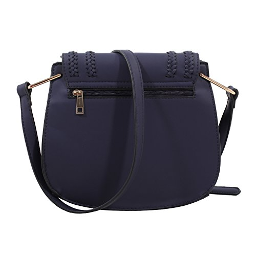 Designer Farrow MKF Mia Collection by K Saddle Black Riga Bag aa48Ex