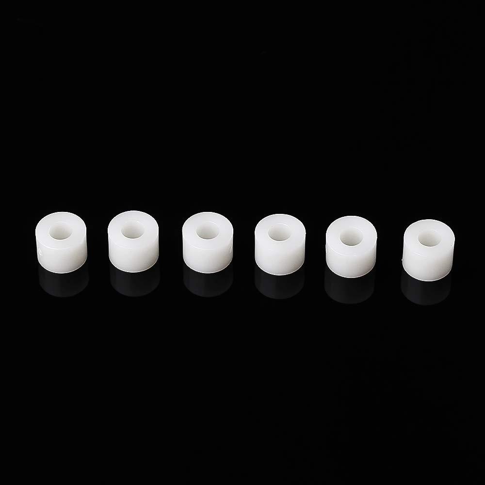 EsportsMJJ 100Pcs m3 blanc nylon ABS non-filet/é entretoise ronde creux Standoff PCB Conseil 4//5//6//8//10//12mm 10mm