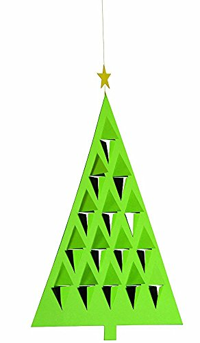 Flensted Mobiles Prism Tree Green Hanging Mobile - 11 Inches Cardboard -