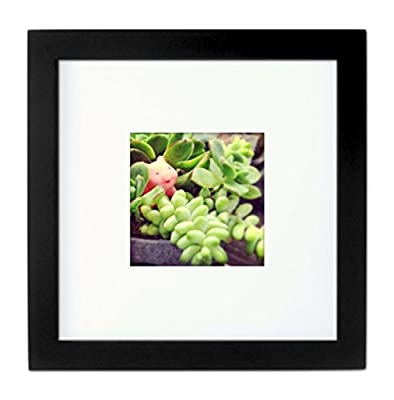 Natural Wood Square Photo Frame, 4x4 (Matted), 8x8