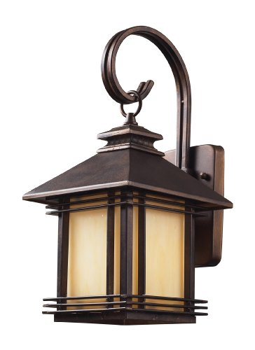 Artistic Lighting 42100/1 Blackwell 1-Light Outdoor Wall Sconce 8-Inch Width by 16-Inch Height In Hazelnut Bronze For Sale